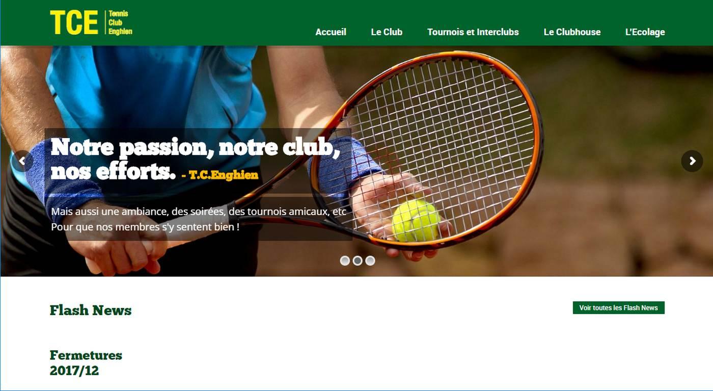 TCE - Nouveau site du Tennus Club Enghien